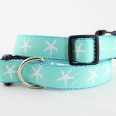 You will love our Aqua Starfish Dog Collar with the soothing color of summer on the sea! Our coastal-inspired dog collars...