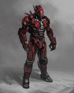sci-fi character design by George Vostrikov on ArtStation. Robot Concept Art, Armor Concept, Concept Ships, Character Concept, Character Art, Character Design, Arte Assassins Creed, Ps Wallpaper, Concept Art Landscape