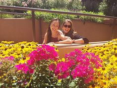 """{flower power} thanks to @galeanosalas for capturing my """"senior"""" photo with @rebeccakcox. Sometimes you just have to pose with the pretty flowers!  #lovethisgirl #santafeopera #flowers #lifeisgood #summatime #lifestyle #prettyposes"""