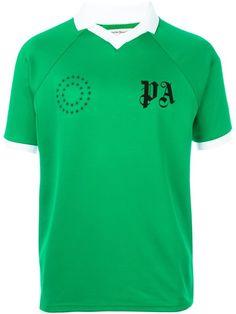PALM ANGELS logo print collar T-shirt. #palmangels #cloth #t-shirt