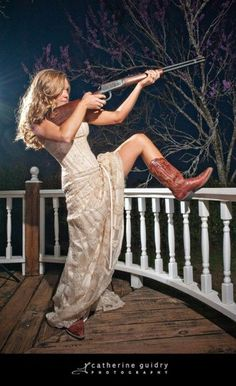 Love the dress. Replace the gun with my mean looking shotgun!