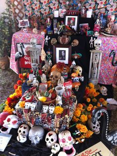 A beautiful Day of the Dead shrine to my deceased friend, Coco Robicheaux.  I'm certain he would really love this.