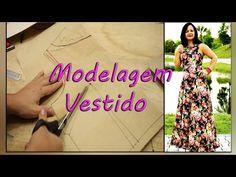 Como Costurar: Vestido Longo Godê - Decote canoa e Recorte Princesa #VEDA19 - YouTube