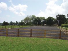 post and rail outdoor riding arena | Outdoor Arenas