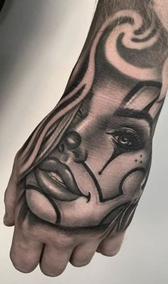 Girl Face Tattoo, Girl Arm Tattoos, Hand Tattoos For Guys, Leg Tattoo Men, Leg Tattoos, Body Art Tattoos, Mens Hand Tattoos, Hand Tats, Tatoos