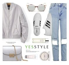 """""""YESSTYLE.com"""" by monmondefou ❤ liked on Polyvore featuring Chicsense, KOON, Topshop, adidas, Missha and Kale"""