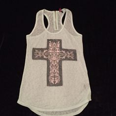 Sage Cross Tank Cute tank top - just in time for summer  Tops Tank Tops