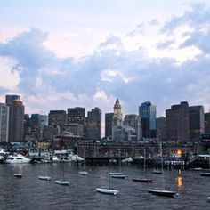Boston Skyline from the Harbor Boston Skyline, New York Skyline, Vacation Destinations, Dream Vacations, Oh The Places You'll Go, Places To Visit, Boston Strong, Future Travel, Wanderlust Travel