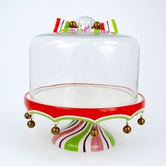 Holiday Cake Stand with Glass Dome