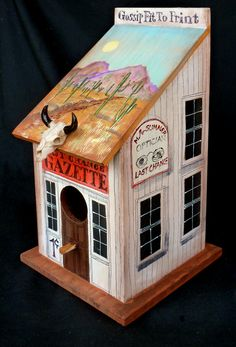 LAST CHANCE GAZETTE a Southwestern Styled Birdhouse by KrugsStudio