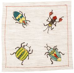 Coral and Tusk - bugs cocktail napkins