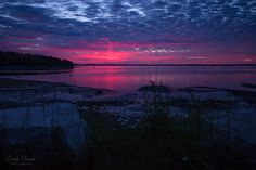 Pink Sky in Bar Harbor Maine