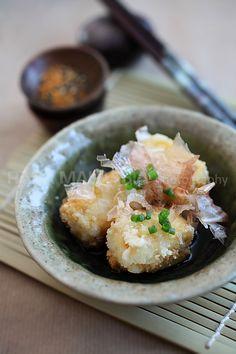 Agedashi Tofu Recipe | Easy Asian Recipes http://rasamalaysia.com