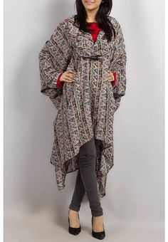 Grapes Woolen Poncho with Stone Work for coldness 2014