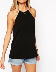 Image 3 of ASOS TALL Racer Front Cami Top