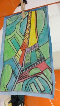 Vertigineuse tour eiffel de robert delaunay arts visuel pinterest maniere coloriage et - Coloriage delaunay ...