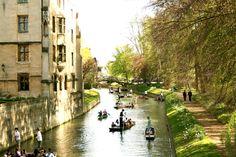 Cambridge, England - Punting