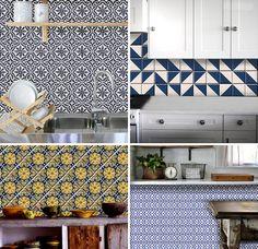 Temporary tile cover-up: BleUcoin tile decals. | Door Sixteen