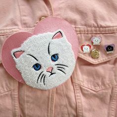 C.R.E.A.M lapel #pin + Cuddly Kitten sew on big chenille #patch set Cat Rule Everything Around Me Wu Tang Clan Kittens Heart Cute Backpatch