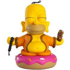 Kidrobot The Simpsons Homer Buddha 7 Inch Figure (orange) HOMERBUDDAHORG - $49.99