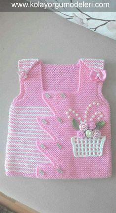 Flower Girl Vest Model - Örgü Modelleri - Flower Girl Vest Model - Knitting Models - is the Crochet Baby, Knit Crochet, Outfits Damen, Viking Tattoo Design, Sunflower Tattoo Design, Baby Cardigan, Knitted Gloves, Baby Sweaters, Baby Girl Fashion