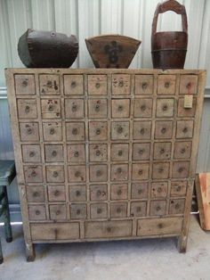 Apothecary cabinet-primitive. I could put so much stuff in this.