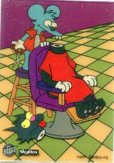 SKYBOX-SIMPSONS-ITCHY-AND-SCRATchY-3-CARD-CEL-SET