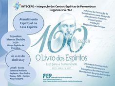 Blog do Centro Espírita de Tuparetama - CEMIL: INTECEPE 2017 NO SERTÃO SERÁ EM ARCOVERDE - CONFIR...