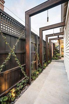 beautiful backyard decoration ideas with privacy fences . - beautiful backyard decoration ideas with privacy fences - Privacy Fence Landscaping, Backyard Privacy, Privacy Fences, Backyard Landscaping, Landscaping Ideas, Privacy Fence Designs, Fencing, Backyard Pergola, Pergola Shade