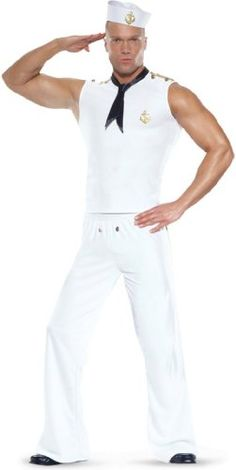 Seafaring Sailor Male Adult Costume - Small/Medium - Adult Costumes ...