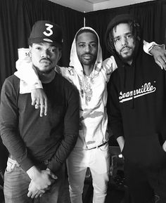 ChanceTheRapper, Big Sean & JCole all together ❣️
