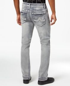 Inc International Concepts Slim Straight Jeans, Only at Macy's - Gray 36x32