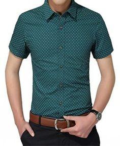 8c4172b446c ... homme fashion directly from China mens polka dot shirt Suppliers   Summer Men Polka Dot Shirts Casual Fashion Mens Summer Shirt Slim Fit Short  Sleeve ...