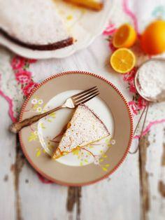 sweetsugarbean: For the Lovers: Meyer Lemon & Lavender Polenta Cake