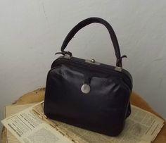 Lizard Leather Handbag 50s.// Vintage Lizard Leather Purse. by DanielaDavid on Etsy