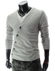 Lees Slim Fit Unbalanced button knit cardigan  $21.80