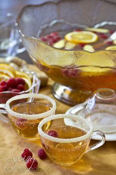 Champagne Punch with Raspberry and Orange Liqueur ASpicyPerspective.com