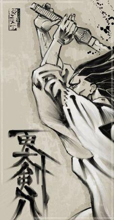 BLEACH Kenpachi Zaraki... The moment he used both hands... It's over