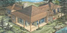 """Cottage Plans   Normerica Cottage Design """"The Wabakimi 3515"""""""