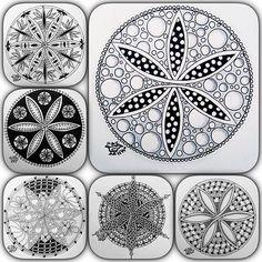 Zentangles and zendoodles mandala circle