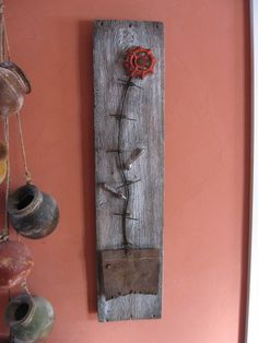 found object flower by Dwayne Bulla