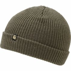 Protect your style by grabbing a warm and clean look Obey Ruger gunmetal beanie. Freshen up your wardrobe and add warmth to your head with a ribbed knit gunmetal colorway, folded cuff that can be worn as a slouch, and an Obey brand tag on this all-acrylic
