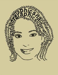 How to Create a Simple Face Text Portrait in Photoshop - Naldz Graphics Photoshop Tutorial, Photoshop Face, Photoshop Tips, Photoshop For Photographers, Photoshop Photography, Advanced Photography, Leicester, Typography Portrait, Typography Art