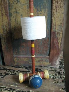 Vintage Croquet Toilet Paper Holder | Community Post: 22 Totally Quirky Toilet Paper Holders