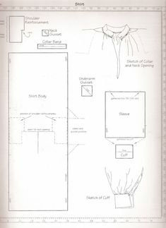 pattern for men's shirts, add higher collar and ruffle 18th Century Clothing, 18th Century Fashion, Medieval Clothing, Historical Clothing, Historical Costume, Clothing Patterns, Sewing Patterns, Men's Clothing, Mens Shirt Pattern