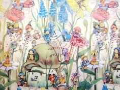 Vintage Wrapping Paper  Garden Folk  One unused by TillaHomestead, $5.50