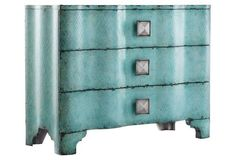 Turquoise Crackle Dresser