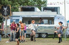 Silver Belles. Vintage Airstreams. Carolina was a DJ booth for the Secret Garden Festival.