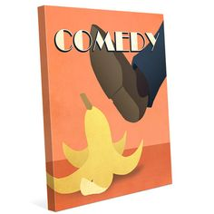 """Click Wall Art 'Comedy Film' Graphic Art on Wrapped Canvas Size: 24"""" H x 20"""" W x 1.5"""" D"""