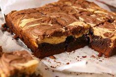 Peanut butter and chocolate swirl cheesecake brownies